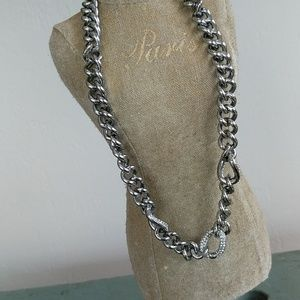 JUICY COUTURE PAVE LINKS NECKLACE NWT
